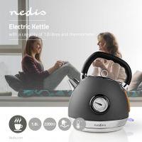 Nedis Elkedel   1,8 L   Soft-Touch   Grå, KAWK530EGY