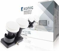 König LNB Single Monoblock 4.3° 1 dB, KN-LNB-SM43N