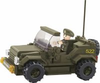 Sluban Building Blocks Army Serie Jeep, M38-B0296