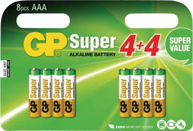 GP Alkaline Batteri Aaa 1.5 V Super 8-Promotional Blister, 03024ADHC8