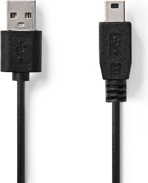 Nedis USB 2.0 Cable   A Male - Mini 5-Pin Male   1.0 m   Black, CCGT60300BK10