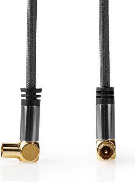 Nedis Koaksialkabel 100 dB | IEC-hanstik (koaksial) – IEC-hunstik (koaksial) | Metalgrå | Skærmet ka