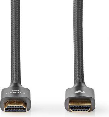 Nedis Ultra High Speed HDMI-kabel | HDMI™-stik – HDMI™-stik | Metalgrå | Skærmet kabel | 1.0 m, CVTB