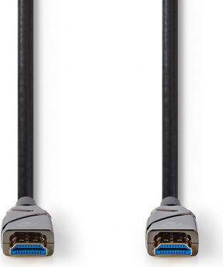 Nedis High Speed HDMI™ Cable with Ethernet | AOC | HDMI™ Connector - HDMI™ Connector | 100 m | Black