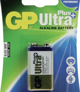 GP Alkaline Battery 9 V Ultra+ 1-Blister, 0301604AUP-U1