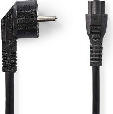 Nedis Strømkabel   Schuko-hanstik, vinklet   IEC-320-C5   5,0 m   Sort, CEGP10100BK50