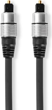 Nedis Optisk lydkabel | TosLink-hanstik - TosLink-hanstik | 0,75 m | Grå, CAGC25000AT075