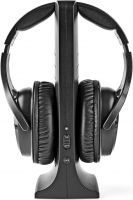 Nedis Wireless Headphones   Radio Frequency (RF)   Over-Ear   Charging Base   Black, HPRF320BK