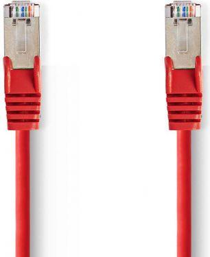 Nedis Kat. 5e SF/UTP-netværkskabel | RJ45-hanstik | RJ45-hanstik | 7,5 m | Rød, CCGP85121RD75