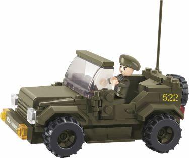 Sluban Byggeklosser Army Serie Jeep, M38-B0296