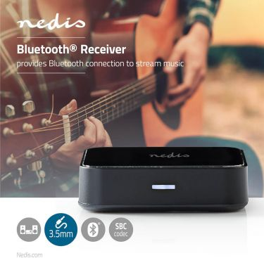 Nedis Trådløs lydmodtager   Bluetooth®   3,5 mm udgang   Sort, BTRC100BK