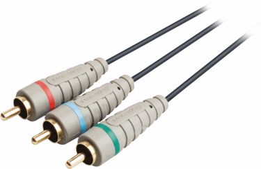 Bandridge Component Video Cable 3x RCA Male - 3x RCA Male 5.00 m Blue, BVL3305