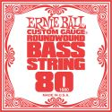 Bas Strenge, Ernie Ball EB-1680, Single .080 Nickel Wound string for Electric Bass