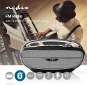 Radio, TV & HI-FI, Nedis FM Radio | 60 W | Bluetooth® | Black / Silver, RDFM5300BK