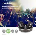 Høretelefoner, Nedis Trådlösa hörlurar | Radiofrekvens (RF) | Over-ear | Laddningsplatta | Svart/silver, HPRF210BK