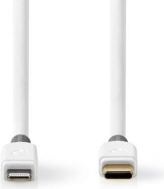 Nedis Apple Lightning-kabel   Apple Lightning 8-bens hanstik - USB-C   2,00 m   Hvid, CCBP39650WT20