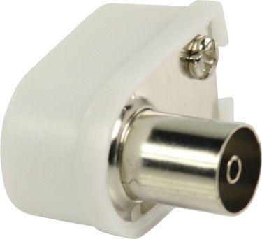 Valueline Coax Connector Female White, VLSP40921W