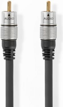 Nedis Digital Audio Cable | RCA Male - RCA Male | 5.00 m | Anthracite, CAGC24170AT50