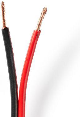 Nedis Speaker Cable   2x 2.50 mm2   50.0 m   Reel   Black/Red, CABR2500BK500
