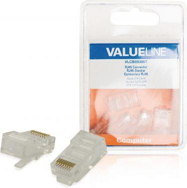 Valueline Stik RJ45 Solid UTP CAT5 Han Gennemsigtig, VLCB89300T