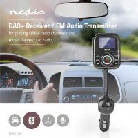 Nedis Car DAB+/FM-sender | Bluetooth® | microSD-kortstik | Håndfri telefoni | 2 x USB, CATR300BK