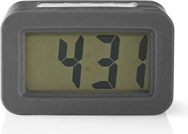 Nedis Digital Desk Alarm Clock   Backlight   Grey, CLDK003GY