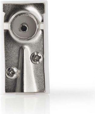Nedis IEC (koaksial) stik | Hanstik + hunstik - Vinklet | 2 dele | Hvid, CSBW40995WT