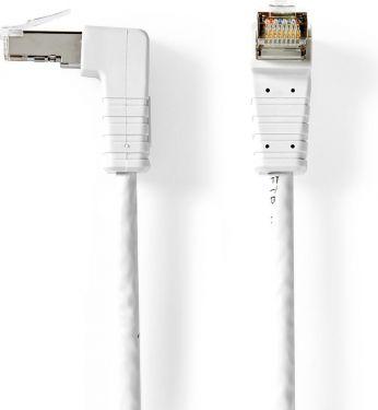 Bandridge CAT6 F/UTP-netværkskabel | RJ45-hanstik - RJ45-hanstik vinklet | 2,00 m | Hvid, BCL8202