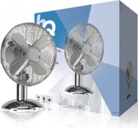 HQ Table Fan 30 cm 35 W Chrome Silver, KN-MTF12