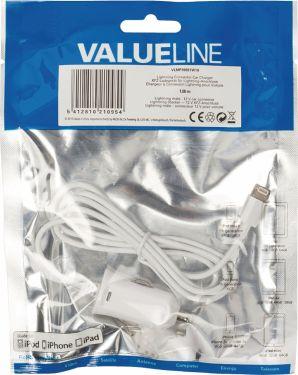 Valueline Car Charger 2.1 A Apple Lightning White, VLMP39891W10