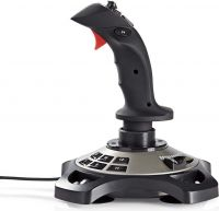 Nedis Gamingjoystick | Kraftig vibration | USB-forsynet | Fungerer med USB-enheder, GJSK200BK