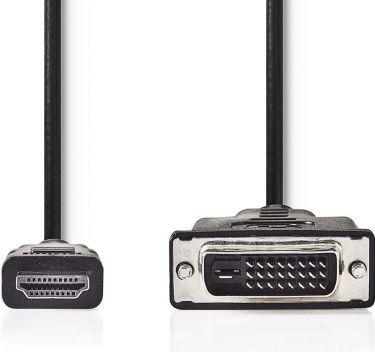 Nedis HDMI - DVI-kabel | HDMI-stik | DVI-D 24 + hanstik med +1 ben | 3,0 m | Sort, CCGB34800BK30