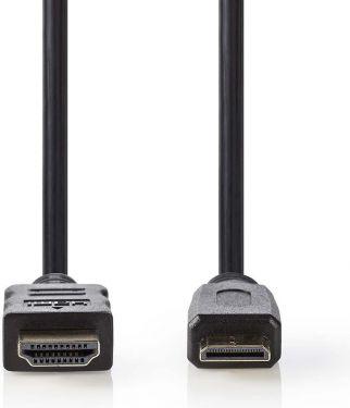 Nedis High Speed HDMI™-kabel med Ethernet | HDMI™-stik - HDMI™-ministik | 5,0 m | Sort, CVGP34500BK5