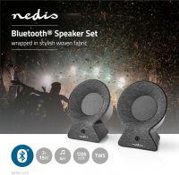 Nedis Fabric Bluetooth® Speaker | 2x 15 W | Up to 4 Hours Playtime | True Wireless Stereo (TWS) | An