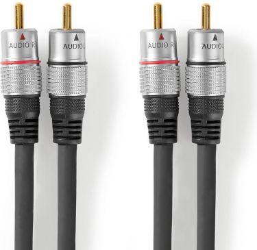 Nedis Stereo Audio Cable | 2x RCA Male - 2x RCA Male | 1.50 m | Anthracite, CAGC24200AT15