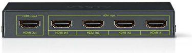 Nedis HDMI™-kontakt | 4 porte - 4 x HDMI™-indgang | 1 x HDMI™-udgang | 4K2K@60fps/HDCP2.2, VSWI3434A