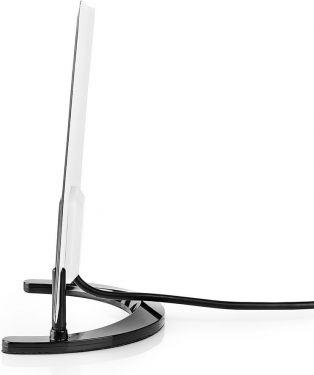 Nedis Indoor HDTV Antenna | 0 - 25 km | Gain 28 dB | FM/VHF/UHF | Black, ANIR2501BK