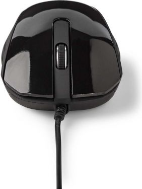Nedis Wired Desktop Mouse | 1000 dpi | 3-Button | Black, MSWD300BK
