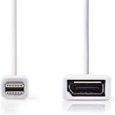 Nedis Mini DisplayPort - DisplayPort-kabel | Mini DisplayPort-hanstik - DisplayPort-hunstik | 0,2 m