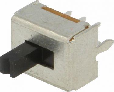 Miniature skydekontakt 2P ON-ON, printben