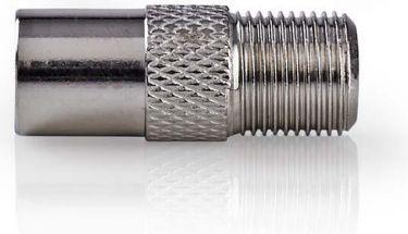 Nedis Satellite & Antenna Adapter | Coax Male - F Female | 10 pieces | Metal, CSGP41954ME