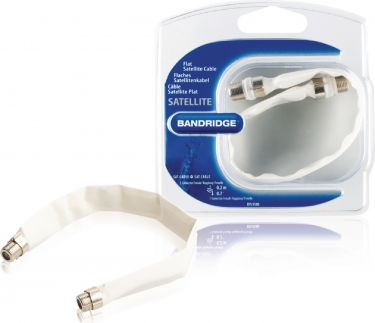 Bandridge Flat Antenna Cable F Female - F Female 0.20 m White, BVL9500