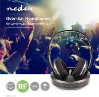 Nedis Trådløse hovedtelefoner | Radiofrekvens (RF) | Over-ear | Opladerstation | Sort/sølv, HPRF210B