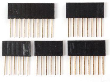 Stabelbar pin header kit Arduino shield kompatibel, 5 dele
