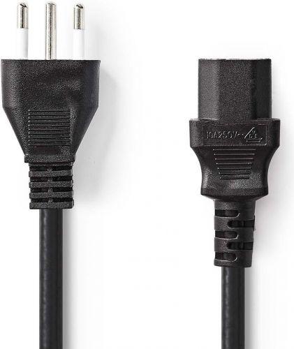 Nedis Strømkabel | Type L-stik (IT) | IEC-320-C13 | 2,0 m | Sort, CEGP11300BK20