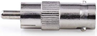 Nedis Antenna Adapter | RCA Male - BNC Female | 10 pieces | Metal, CVGP01940ME