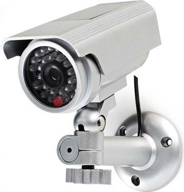 Nedis Dummy Security Camera | Bullet | IP44 | Silver, DUMCBS10SR