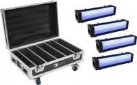 Eurolite Set 4x AKKU Bar-6 Glow QCL + Case with charging function