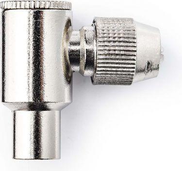Nedis IEC (koaksial) stik, vinklet | Han | 2 dele | Metal, CSGP40905ME
