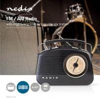 Nedis FM Radio | 4.5 W | Carrying Handle | Black, RDFM5000BK
